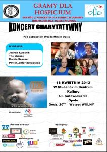 Plakat koncert charytatywny Opole X Factor v2