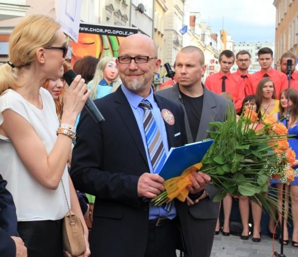 14.06.2013 , Opole , ulica Krakowska . Joanna Moro odslania gwiazde Anny GermanFOT. ALEKSANDRA KOSZYK